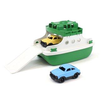 Green Toys Fähre mit Auto Grün