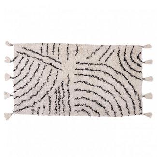 KidsDepot Berber Teppich Schwarz-Weiß