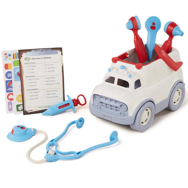 Green Toys Krankenwagen-Arztkoffer weiß