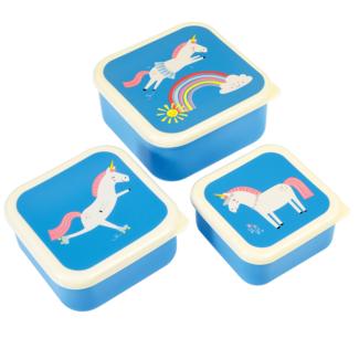 Rex London Snack Boxes Unicorn Set of 3