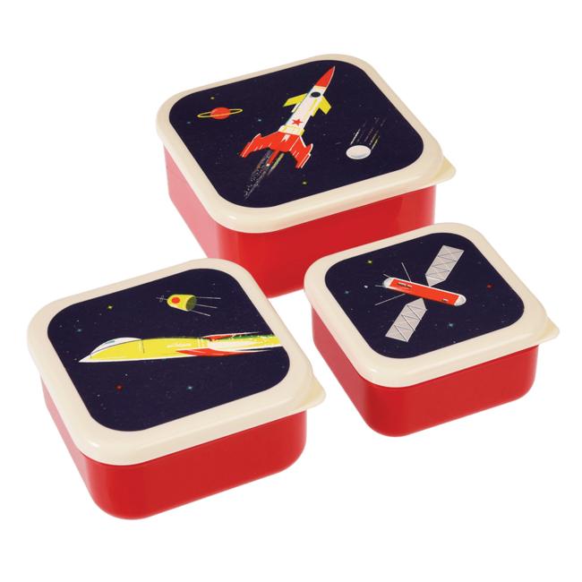 Rex London Snackdoosjes Space 3 stuks