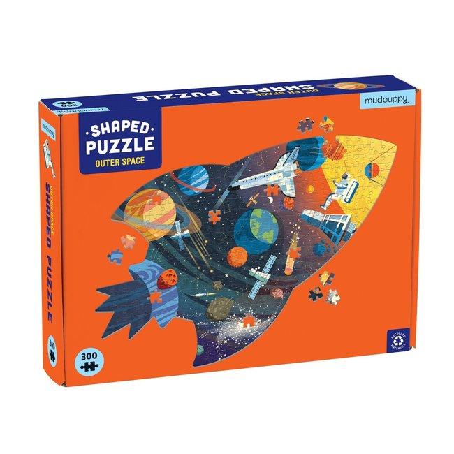 Mudpuppy Shaped puzzel outer space 300 stukjes