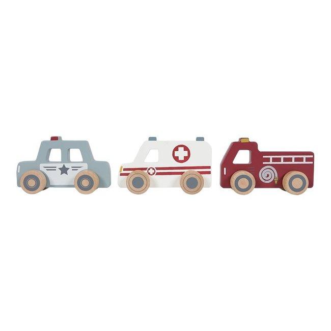 Little Dutch Drei Einsatzfahrzeuge