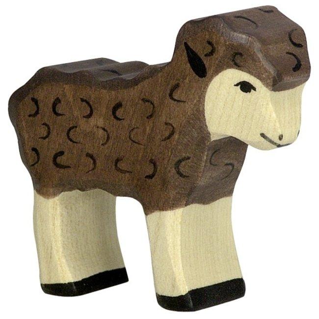 Holztiger Lamm braun 80078 6 cm