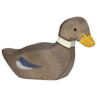 Holztiger Ente Braun 80024 6 cm