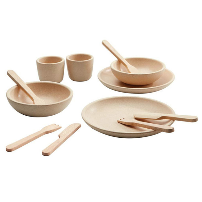 PlanToys Houten Servies Naturel