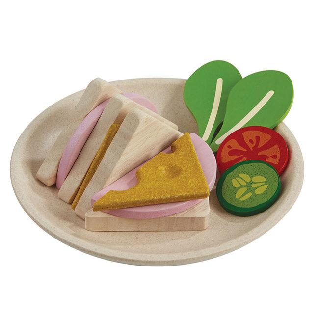 PlanToys Sandwich am Teller