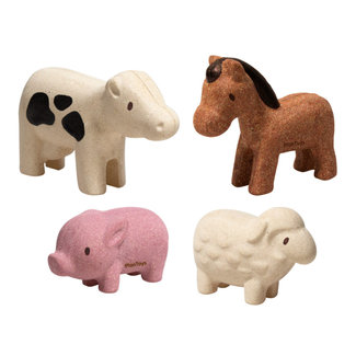 PlanToys Farm Animals Set Wood