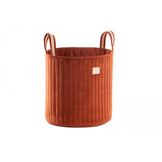 Nobodinoz Basket Savanna Velvet Brown