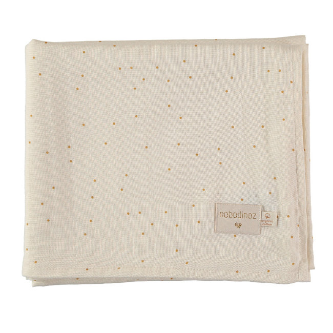 Nobodinoz Hydrofiele Doek Honey Sweet Dots 100 x 120 cm
