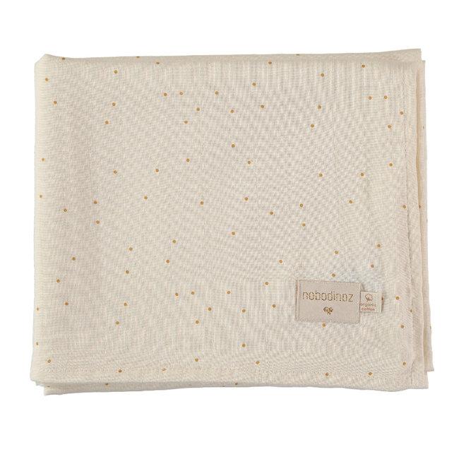 Nobodinoz Muslin Swaddle Honey Sweet Dots 100 x 120 cm