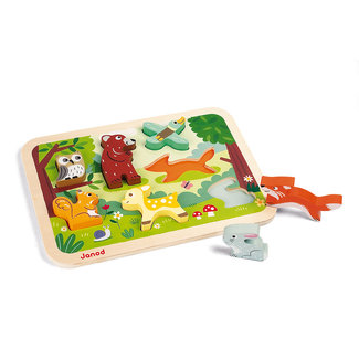 Janod Holzpuzzle Waldtiere
