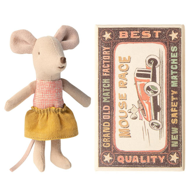 Maileg Mouse Little Sister With Skirt