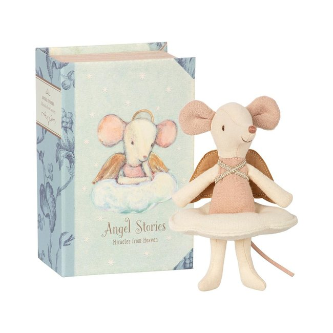 Maileg Mouse Guardian Angel Mouse In Book