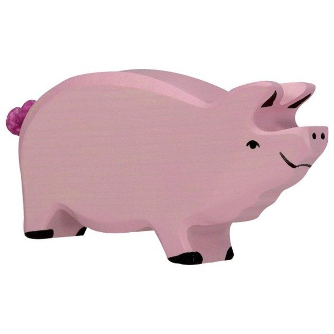 Holztiger Varken roze 80064 13,7 cm