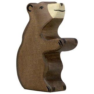 Holztiger Braunbär Sitzend 80186 5,7 cm