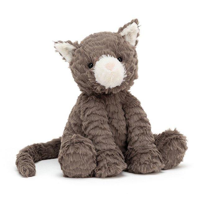 Jellycat Kuscheltier Katze Grau Fuddlewuddle
