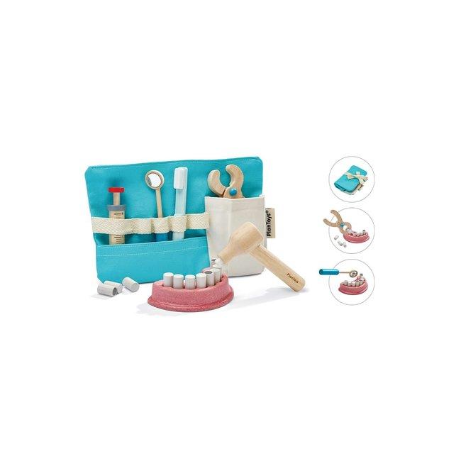 PlanToys Kinder Zahnarzt Set Holz