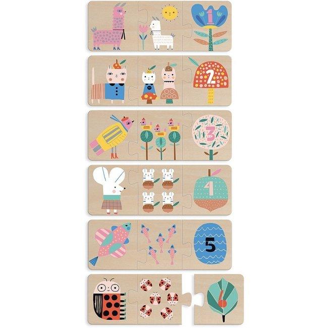 Vilac 6 Holz Puzzles Zahlen