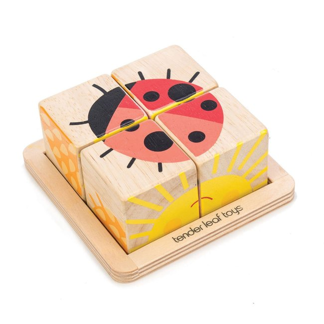 Tender Leaf Toys Würfelpuzzle  Holz