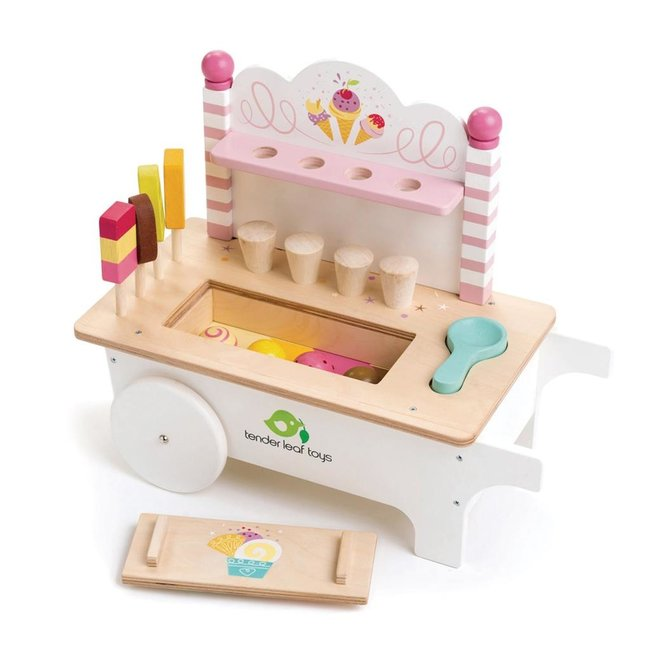 Tender Leaf Toys Ice Cream Cart Wood