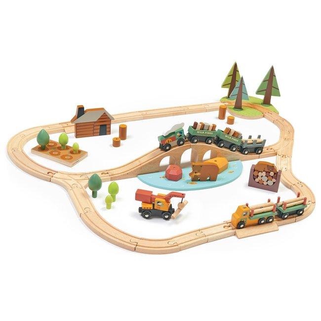Tender Leaf Toys Holz-Eisenbahn