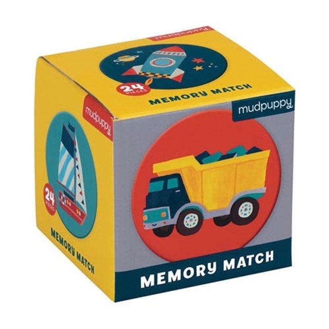 Mudpuppy Mini Memory Spel Voertuigen