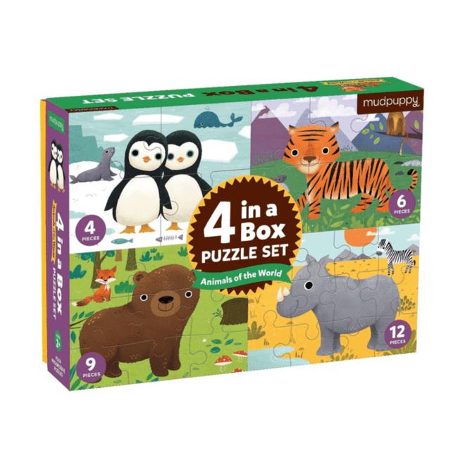 Mudpuppy 4 Puzzles Tieren