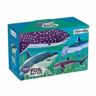 Mudpuppy Puzzle Haifische Folie 100 Teile