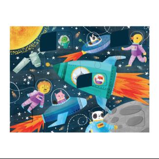 Mudpuppy Klappen-Puzzle Raumfahrt