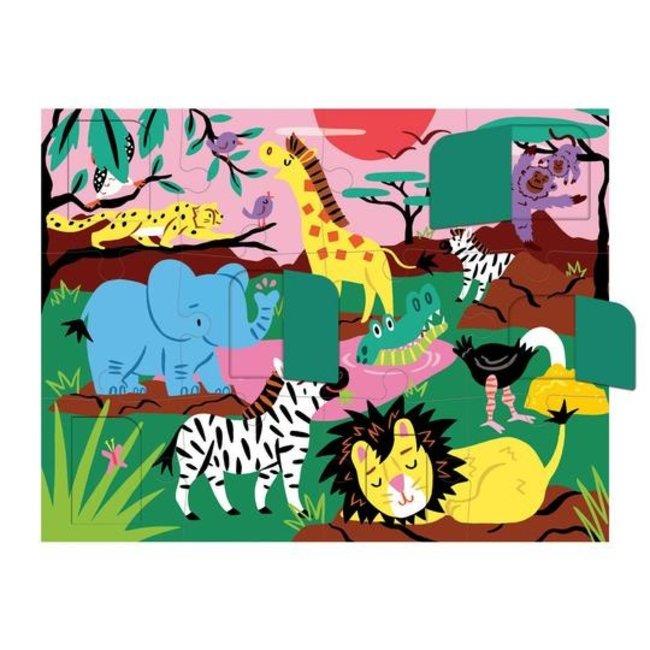 Mudpuppy Flapjes Puzzel Safari