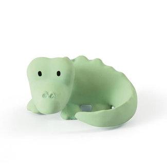 Tikiri Crocodile bath toy and rattle green