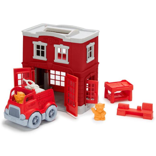 Green Toys Brandweerkazerne & Auto