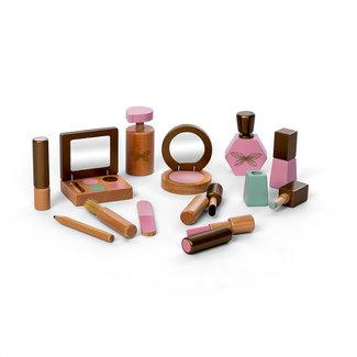 Houten Make-up Set