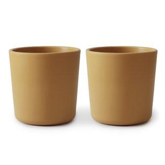Mushie Cups Mustard Set Of 2