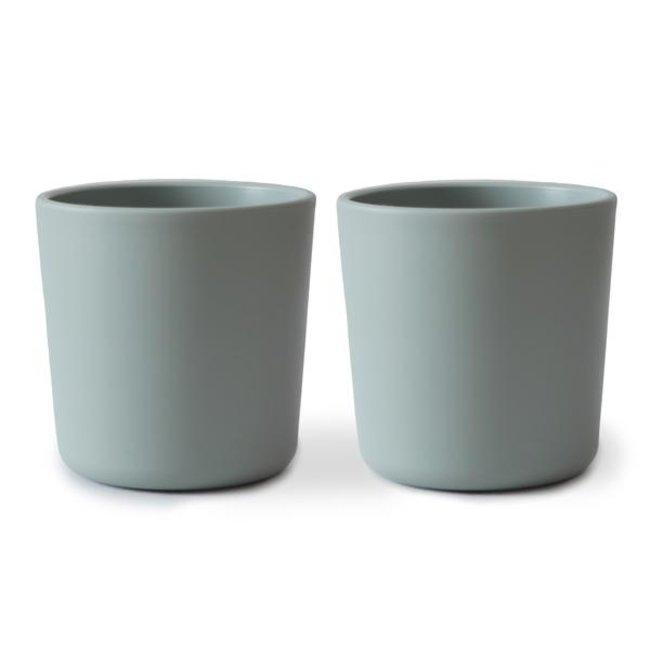 Mushie Cups Sage Set Of 2