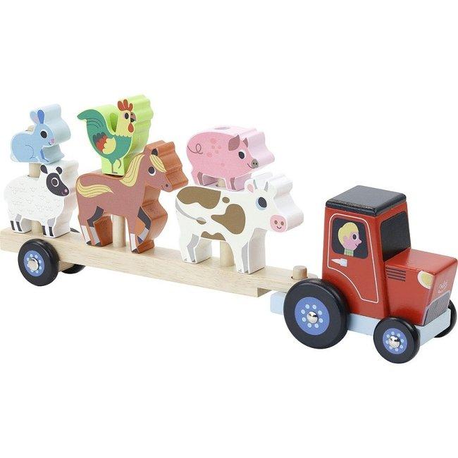 Vilac Stapel-Traktor Tieren