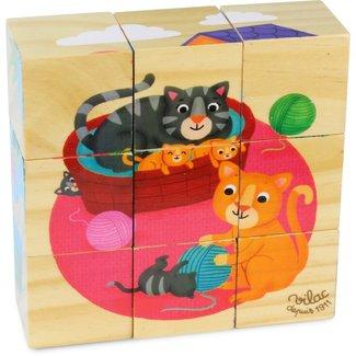 Vilac Holz Blockpuzzle Tiere