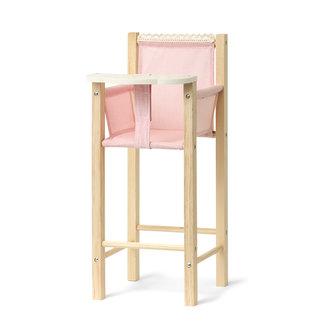 Skrallan Wooden Doll's High Chair Pink