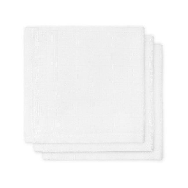 Jollein Spucktücher Weiß 31x31 cm