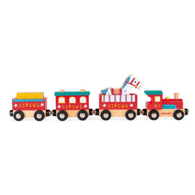 Janod Circus train wood