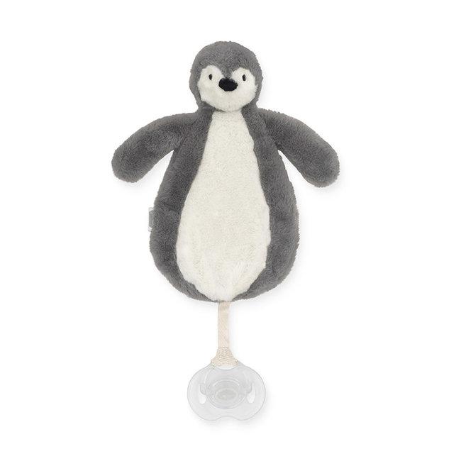 Jollein Schnullertuch Pinguin Grau