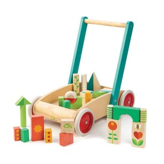 Tender Leaf Toys Lauflernwagen Bauklötze