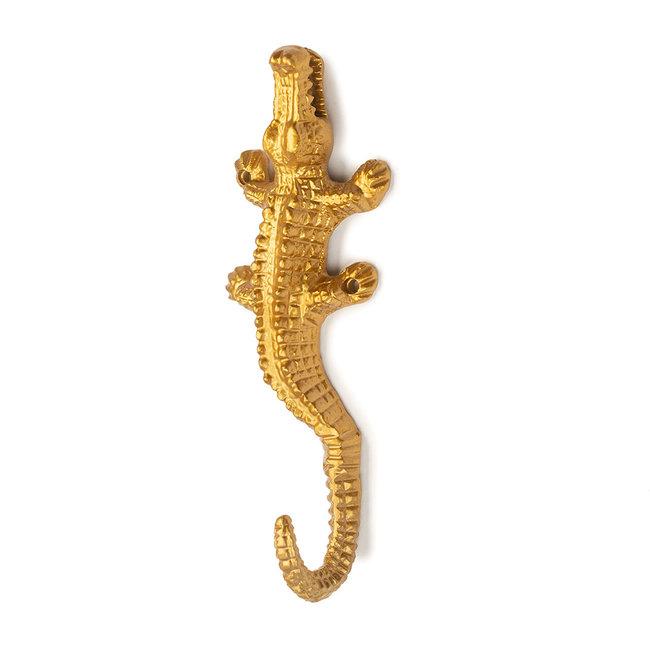 KidsDepot Wandhaken Krokodil Gold Cobi