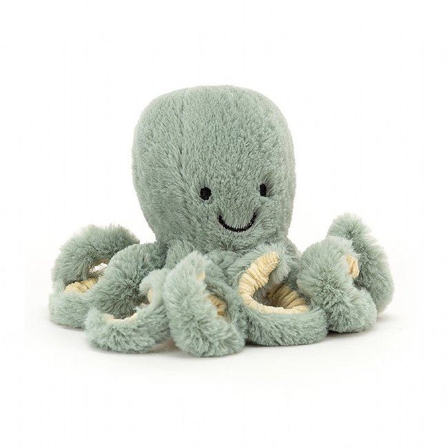 Jellycat Octopus Odessy Baby 14 cm Groen