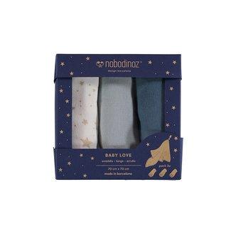 Nobodinoz Swaddle Box Blue 70 x 70 cm