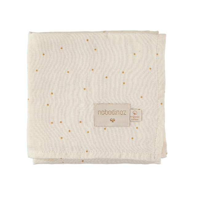 Nobodinoz Hydrofiele Doek Honey Sweet Dots 70 x 70 cm