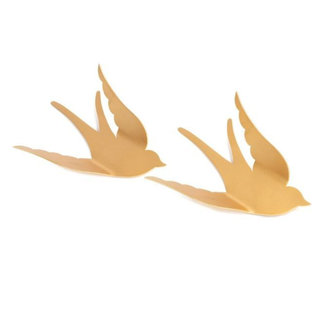 KidsDepot Wall birds Gold Bibi