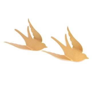 KidsDepot Wand Vögel Gold Bibi