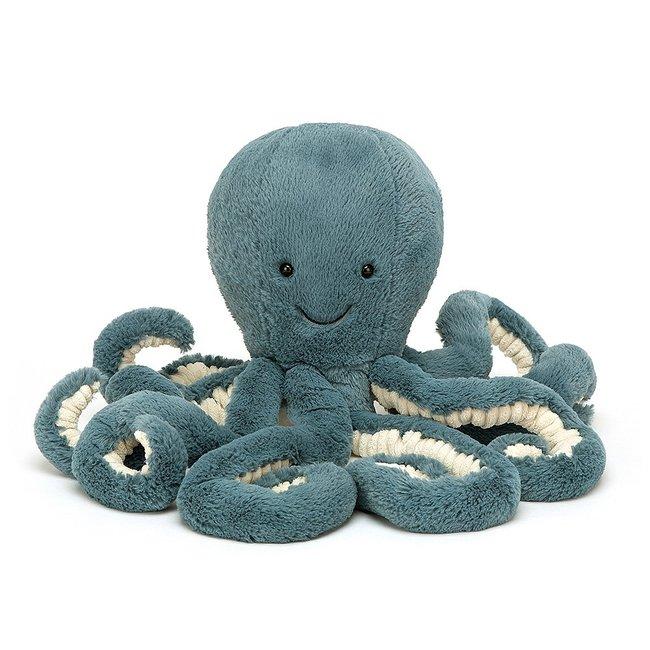 Jellycat Oktopus Storm 50 cm Kuscheltier Blau